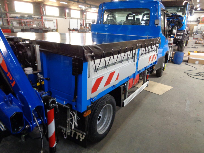 Bâche de protection bleu pour camion benne