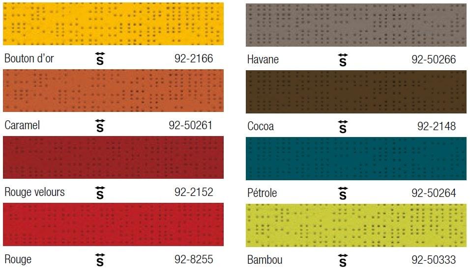 gamme de coloris textile Soltis 92 Serge Ferrari
