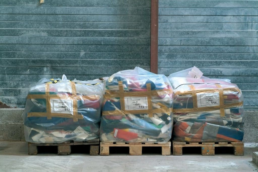 Support textile recyclable