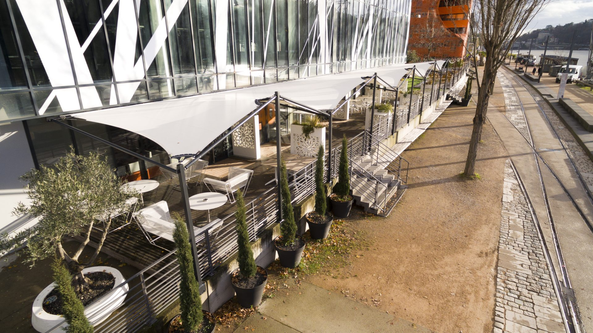 Structure textile extérieur dock40 Lyon