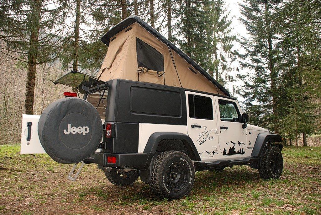 Pickup avec extension en toile ouverture jeep
