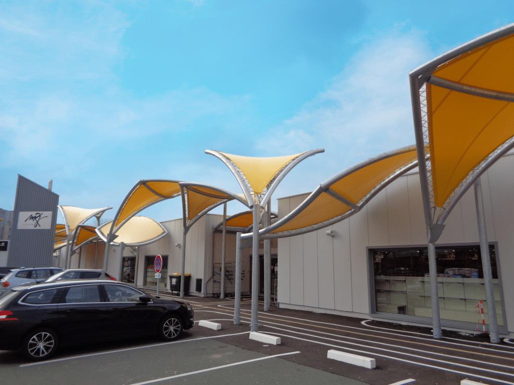 Structure textile légère - Centre commercial