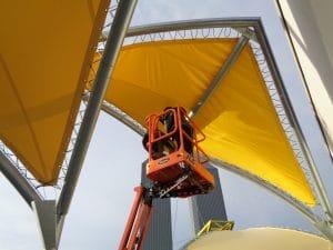 Nacelle d'installation de la structure