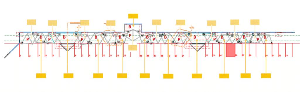 Plan en vue de dessus de l'installation