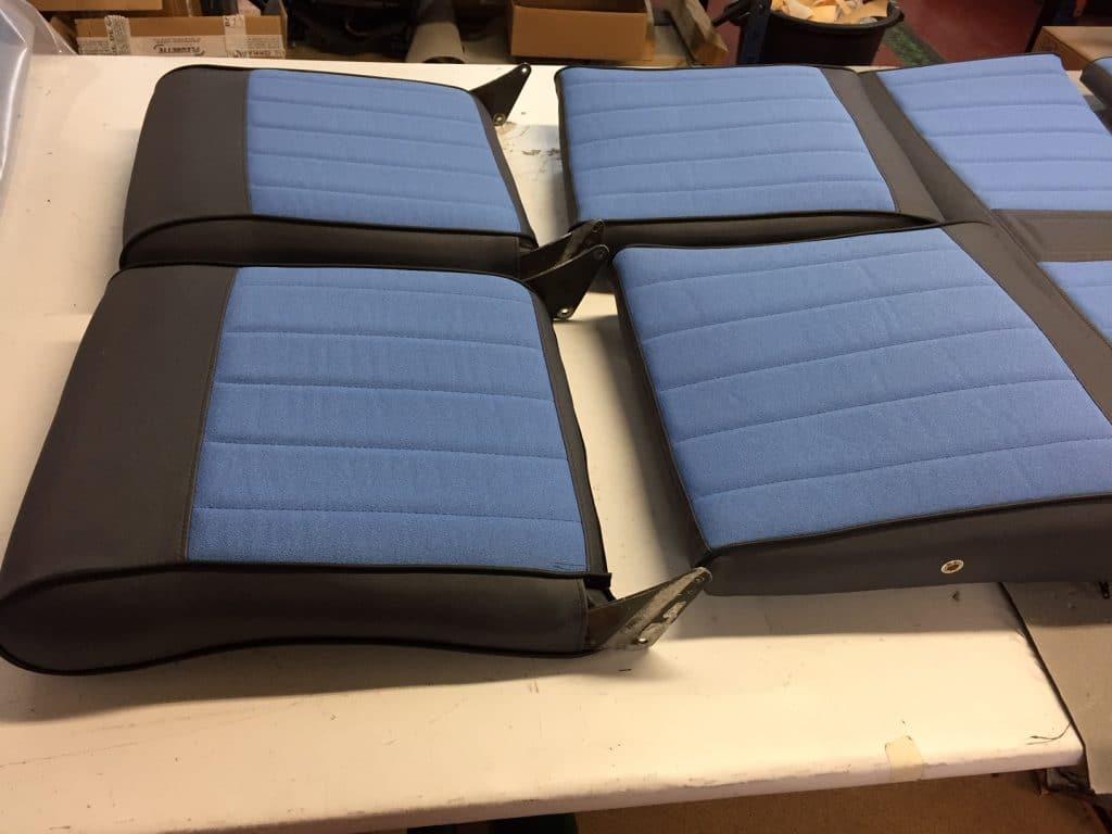 Confection de siège et banquette d'aviation textile tissu simili cuir