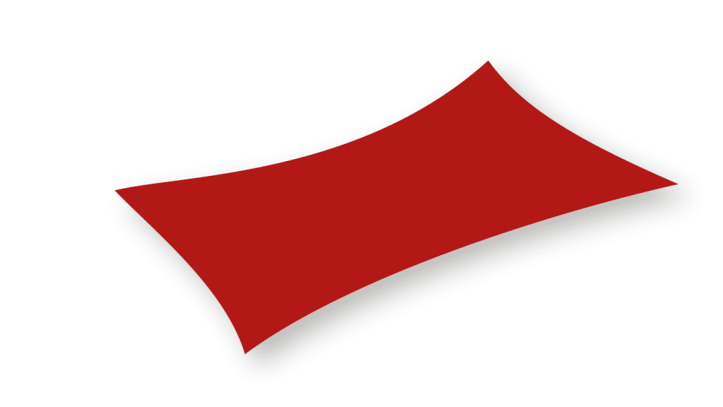 voile d'ombrage rouge standard rectangle